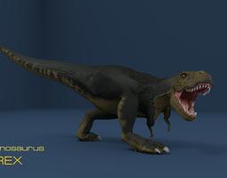 rigged 3d tyrannosaurus rex in blender
