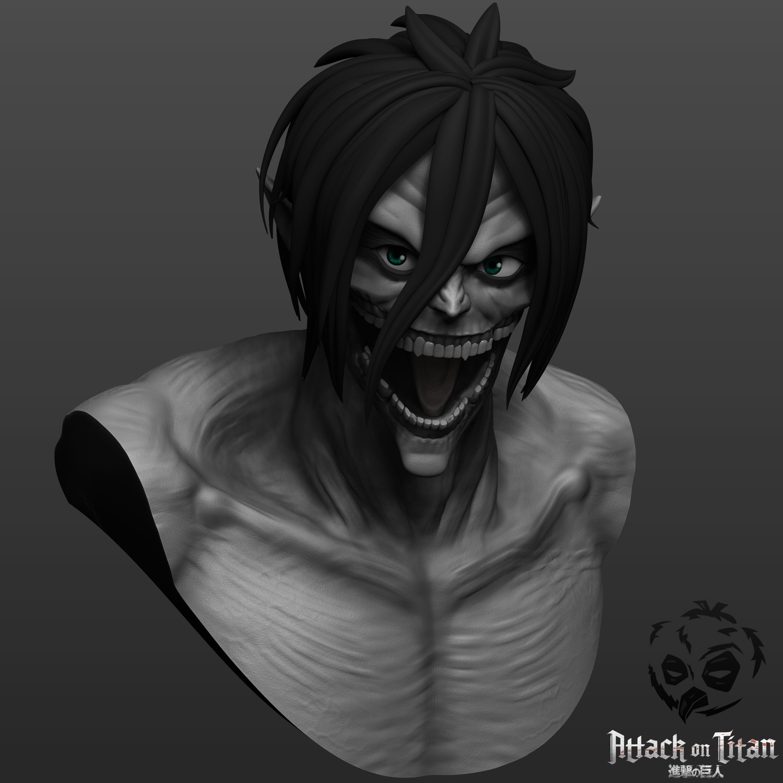 Eren from Attack on Titan in titan 3D print model