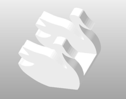 3D printable model sanitary napkin paper table napkin