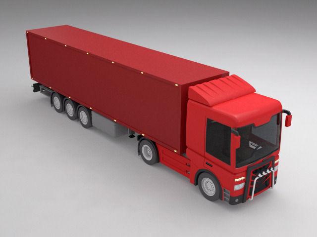 concept truck 3d model cgtrader