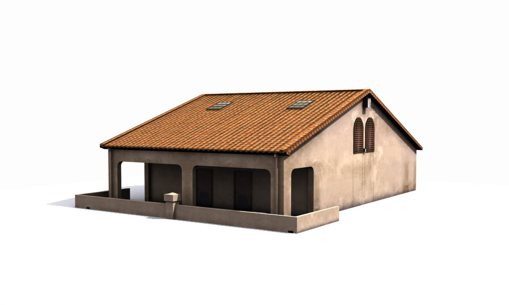 Small house free 3d model game ready max obj fbx for Free 3d house models