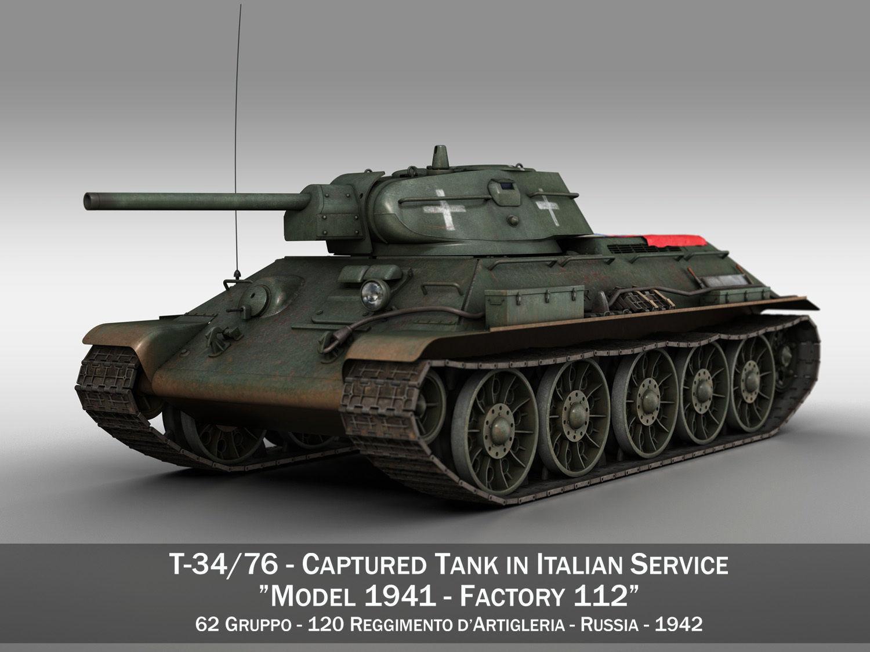 T-34-76 - Model 1942 - Soviet tank in Italian Service