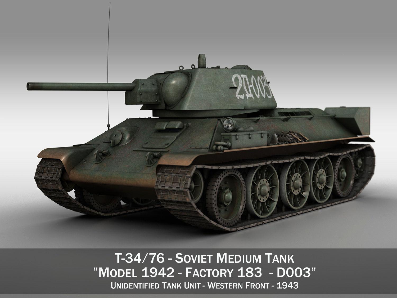 T-34-76 - Model 1942 - Soviet medium tank - D003