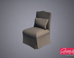 Bedroom Chair 01 3D model