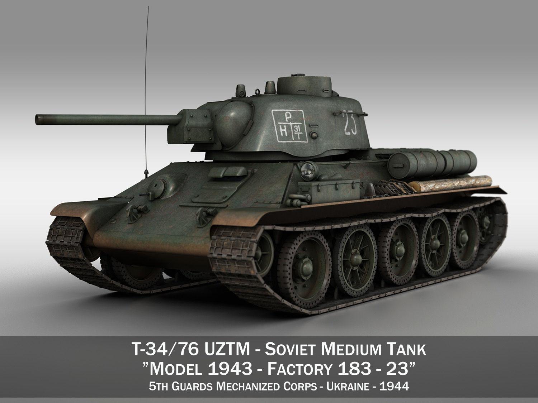 T-34-76 UZTM- Model 1943 - Soviet tank - 23