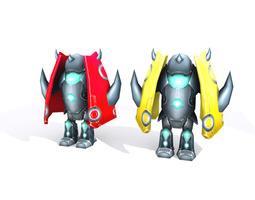 Robot lowpoly 3D model