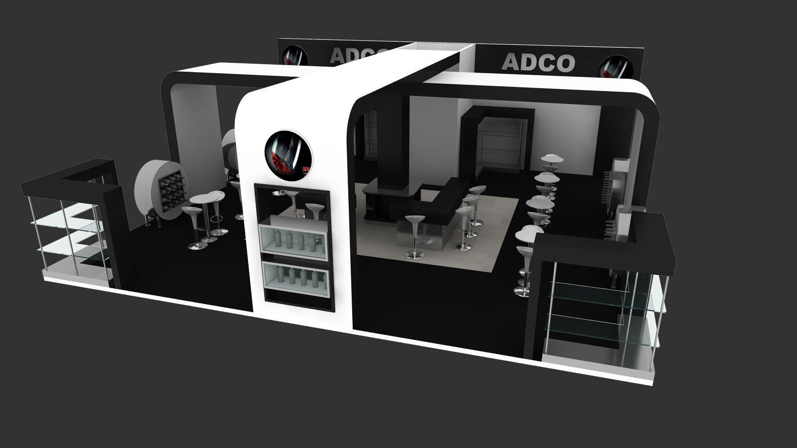 Exhibition Stand Items : Adco exhibition stand design d model animated