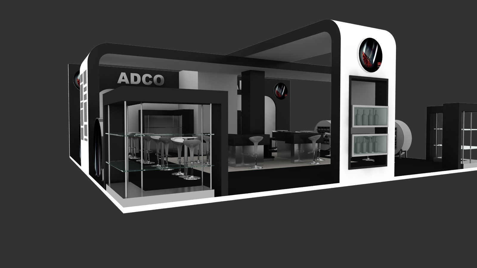 Exhibition Stand Design Price : Adco exhibition stand design d model animated