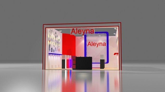 aleyna exhibition design 3d model max 1