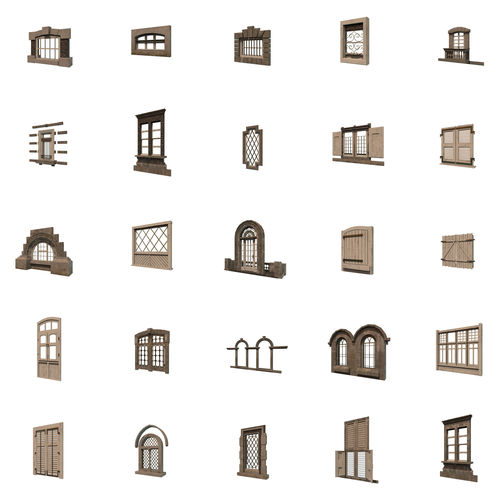 windows collection 3d model fbx ma mb 1