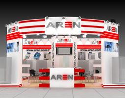 3d aren exhibition fair stand  design