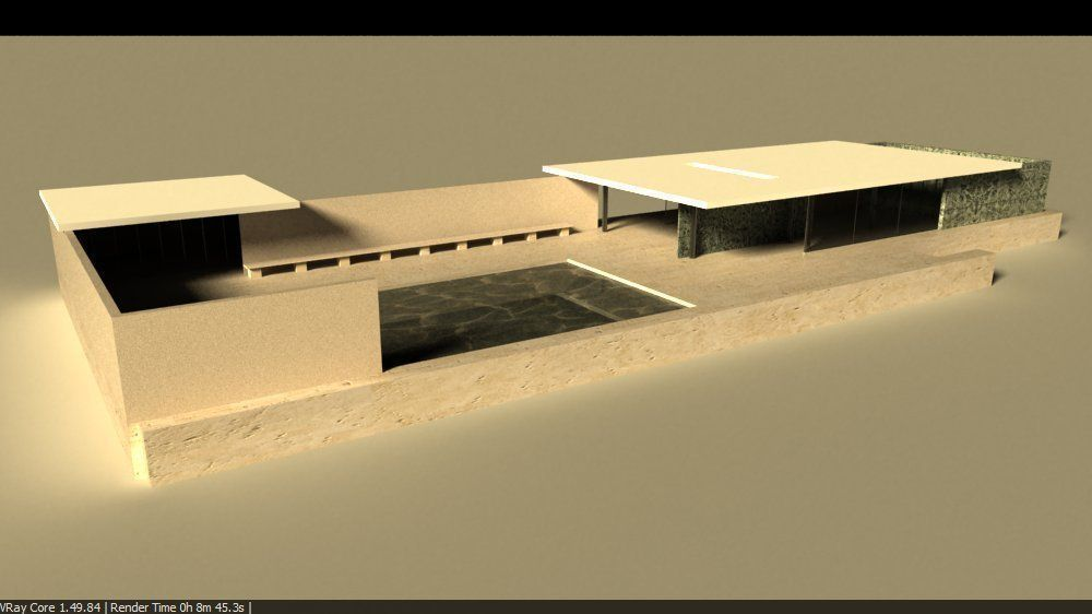 Barcelona Pavillion By Mies Van Der Rohe 3d Model 3dm 14. Add To Wish List.  Remove From Wish List