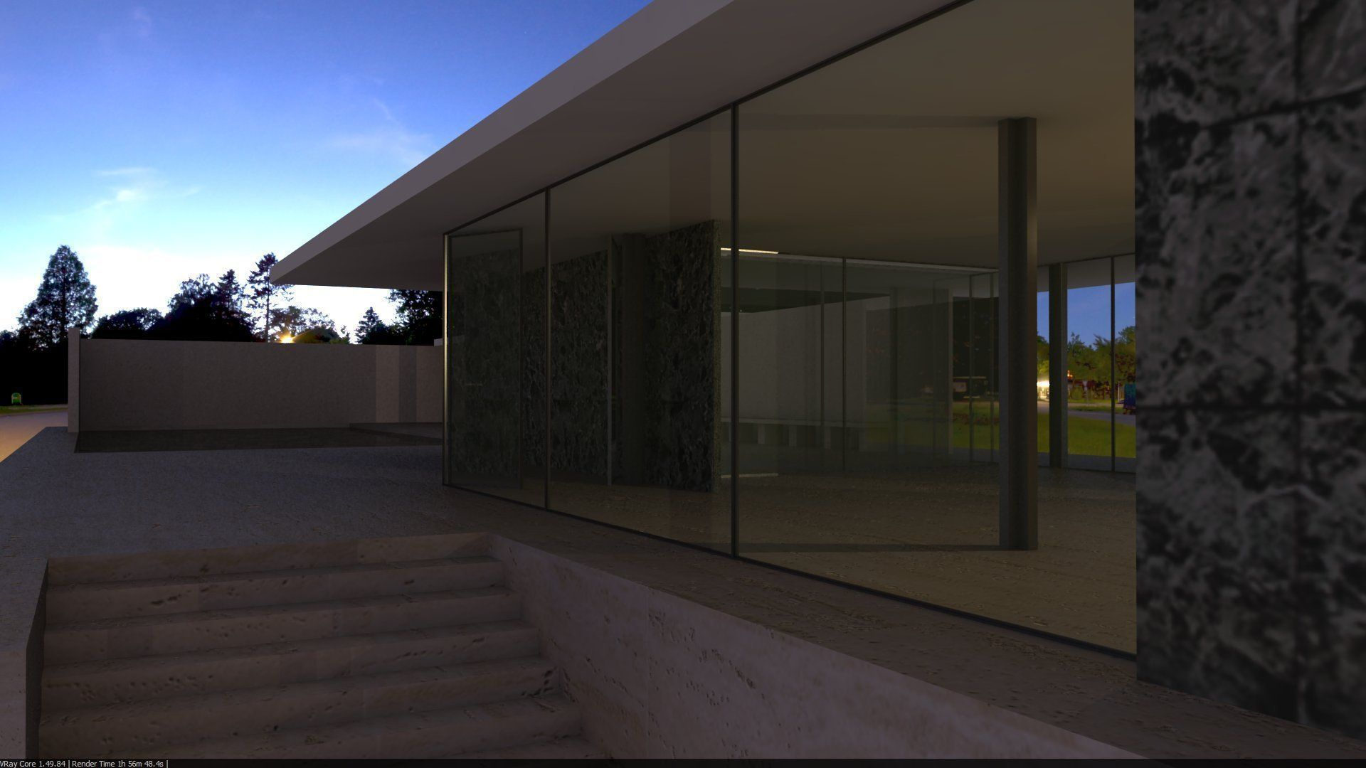 ... Barcelona Pavillion By Mies Van Der Rohe 3d Model 3dm 3 ...