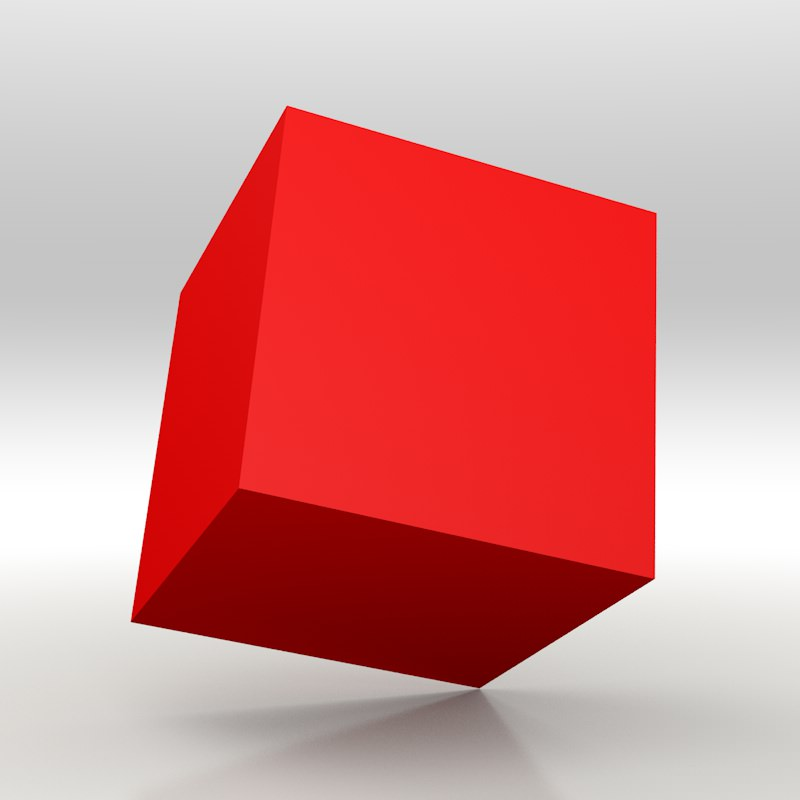The Red Cube 3d Models Cgtrader Com