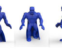 3d print model mexican wrestler blue demon