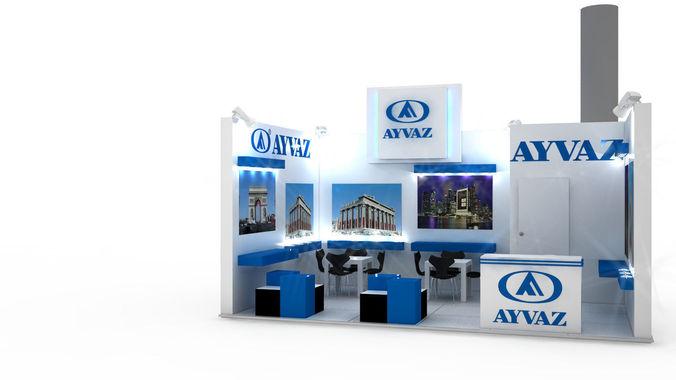 Exhibition Stand Designer Job Description : Ayvaz exhibition stand design d model cgtrader