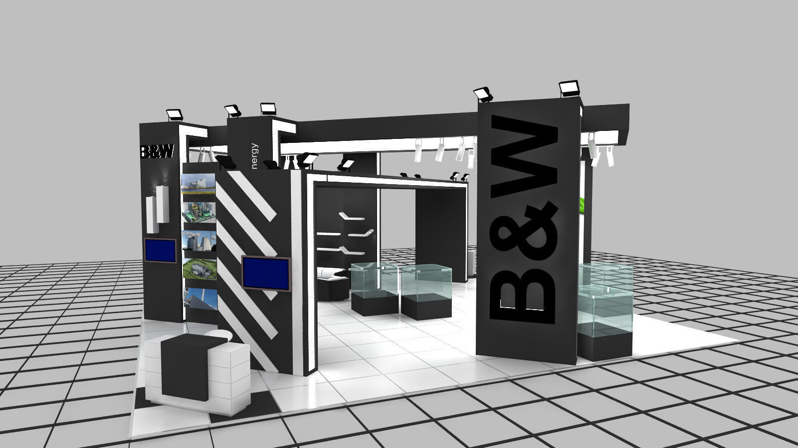Exhibition Stand Designer Job Description : B m exhibition stand design d model max ds dwg chr