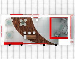 b-m exhibition stand design 3 3d model