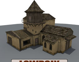 3D model Old Farm Building1