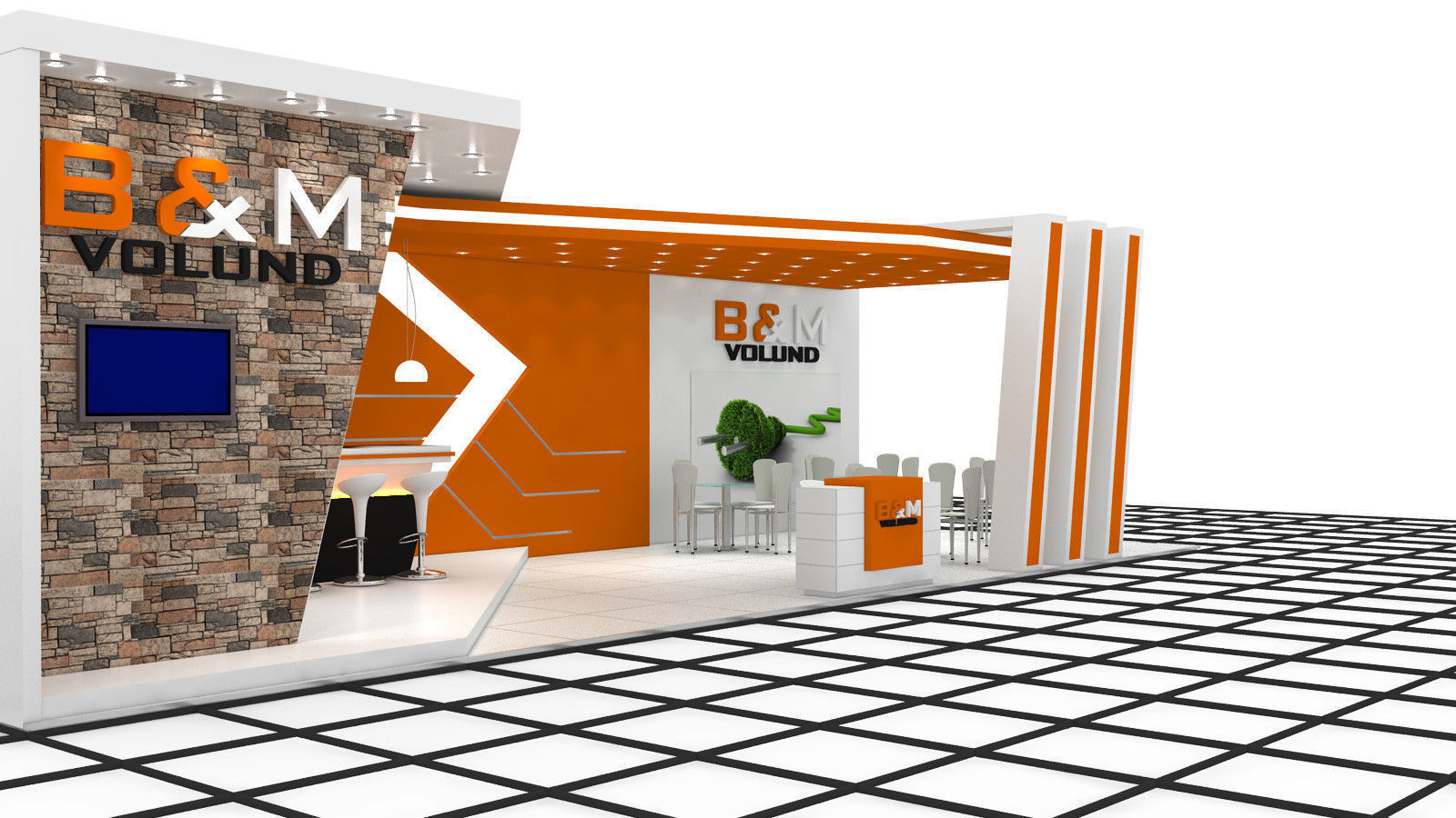 Exhibition Stand Designer Job Description : B m exhibition stand design d model max obj fbx dwg mtl
