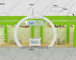 babyjem exhibition stand design 3d model