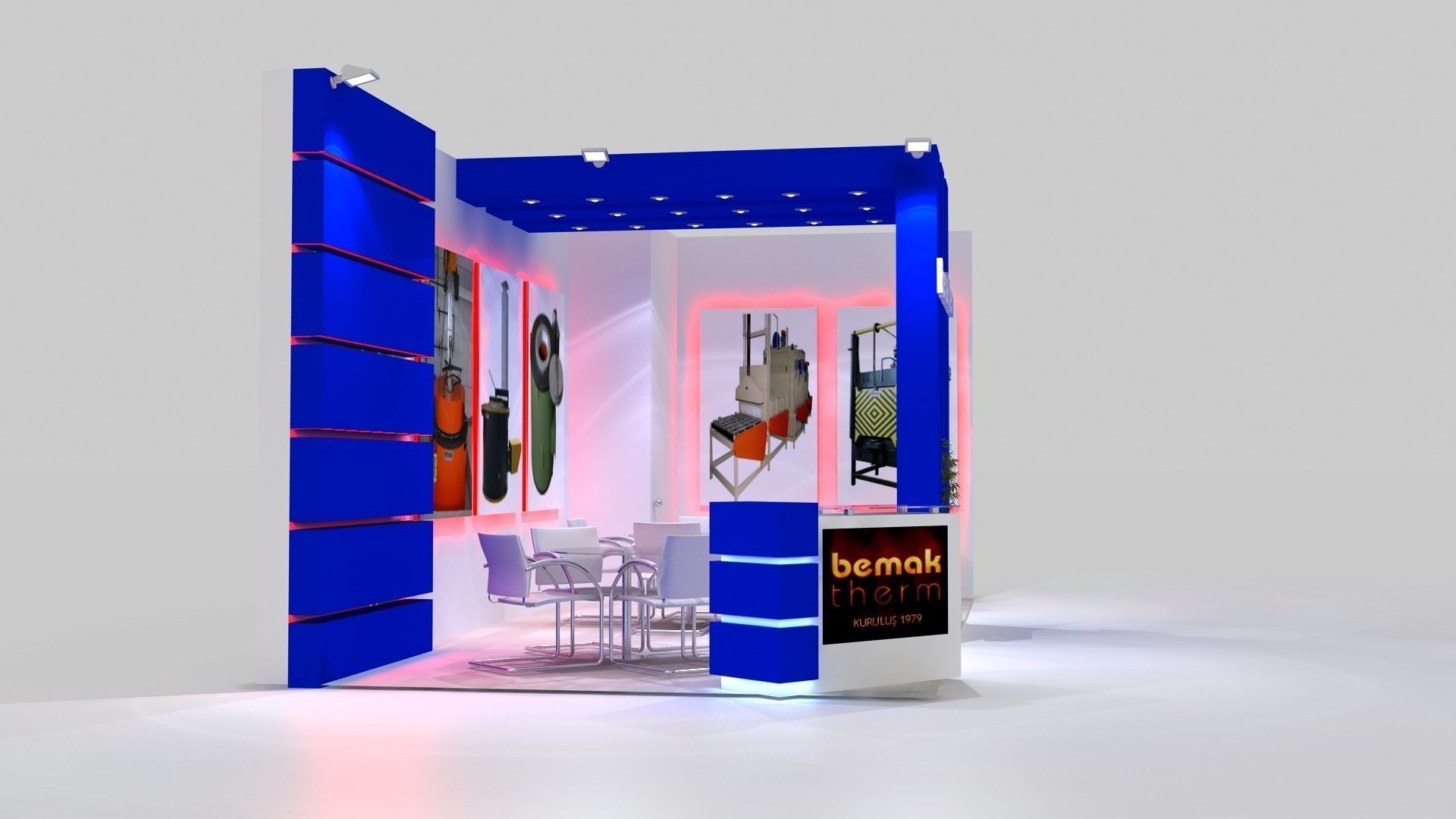 Exhibition Stand Design 3d Max : Bemaktherm exhibition stand design d model max cgtrader