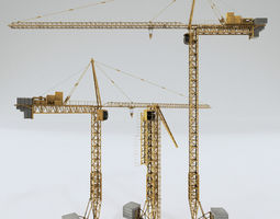 3d model tower crane pbr shader