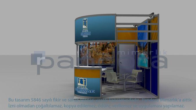 colosae-hotel exhibition stand design 3d model max 1