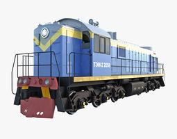 Diesel Locomotive TEM-2 3D model