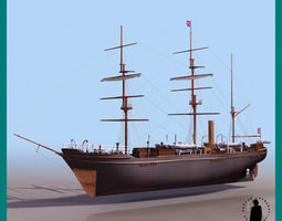 RRS Discovery british A 3D Model