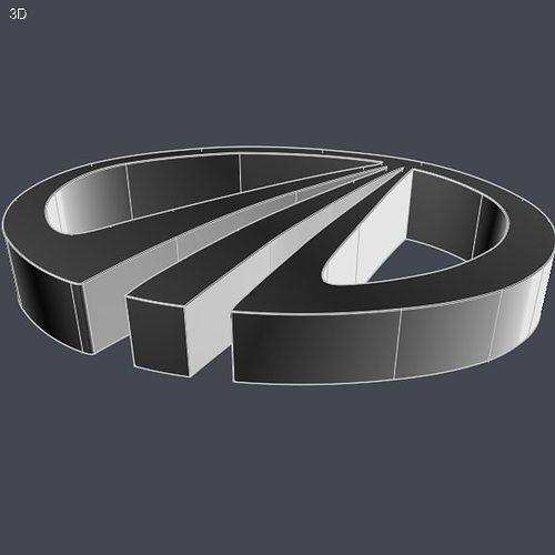mahindra logo cad model 3d model obj mtl stl 3dm ige igs iges 1