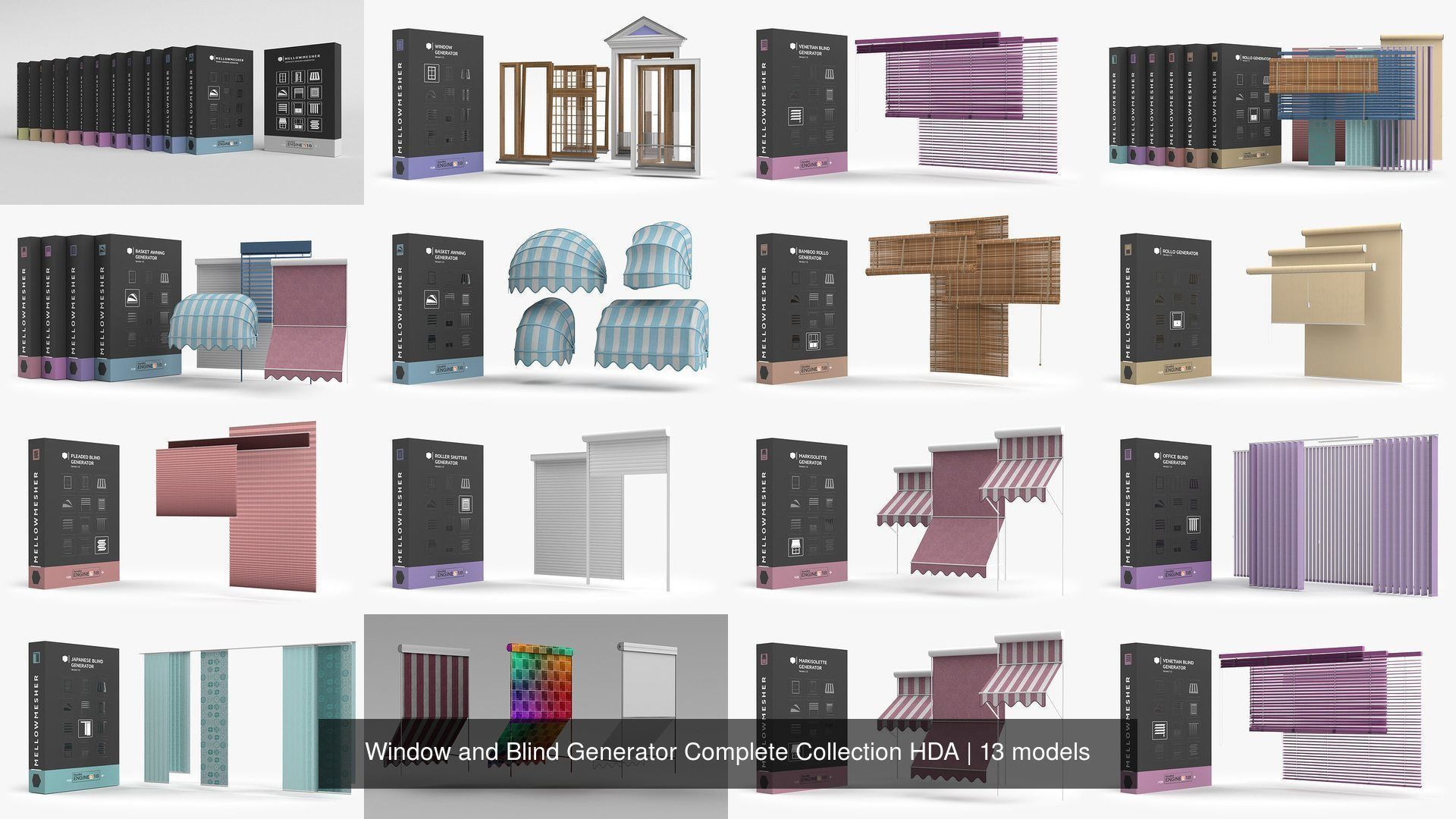 Window and Blind Generator Complete Collection HDA
