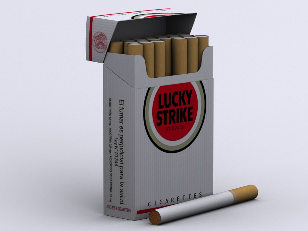 Lucky Strike Cigarettes Box 3D Model .max - CGTrader.com