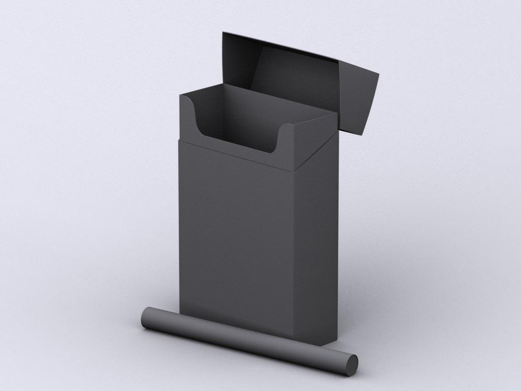 Marlboro Cigarette Box 3d Model Max