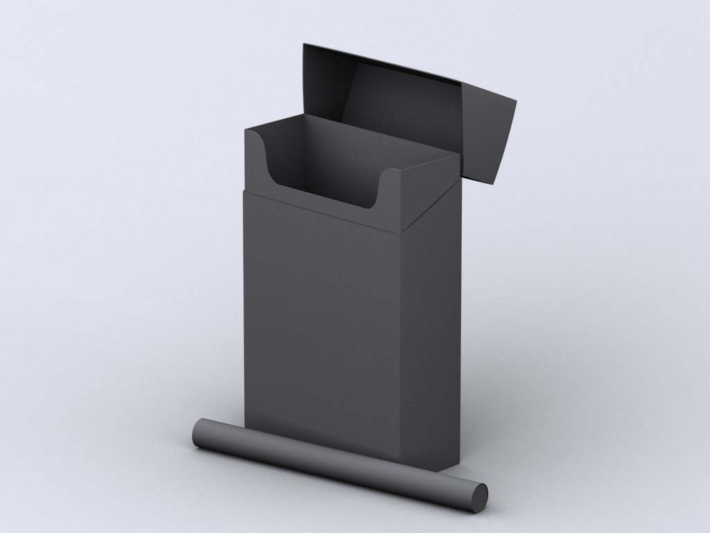Marlboro Cigarette Box 3D Model .max - CGTrader.com