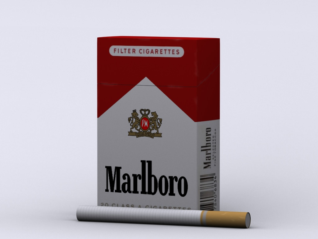 Marlboro Cigarette Box 3D Model Max