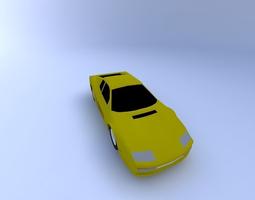 ferrari testarossa 86 with texture 3d model