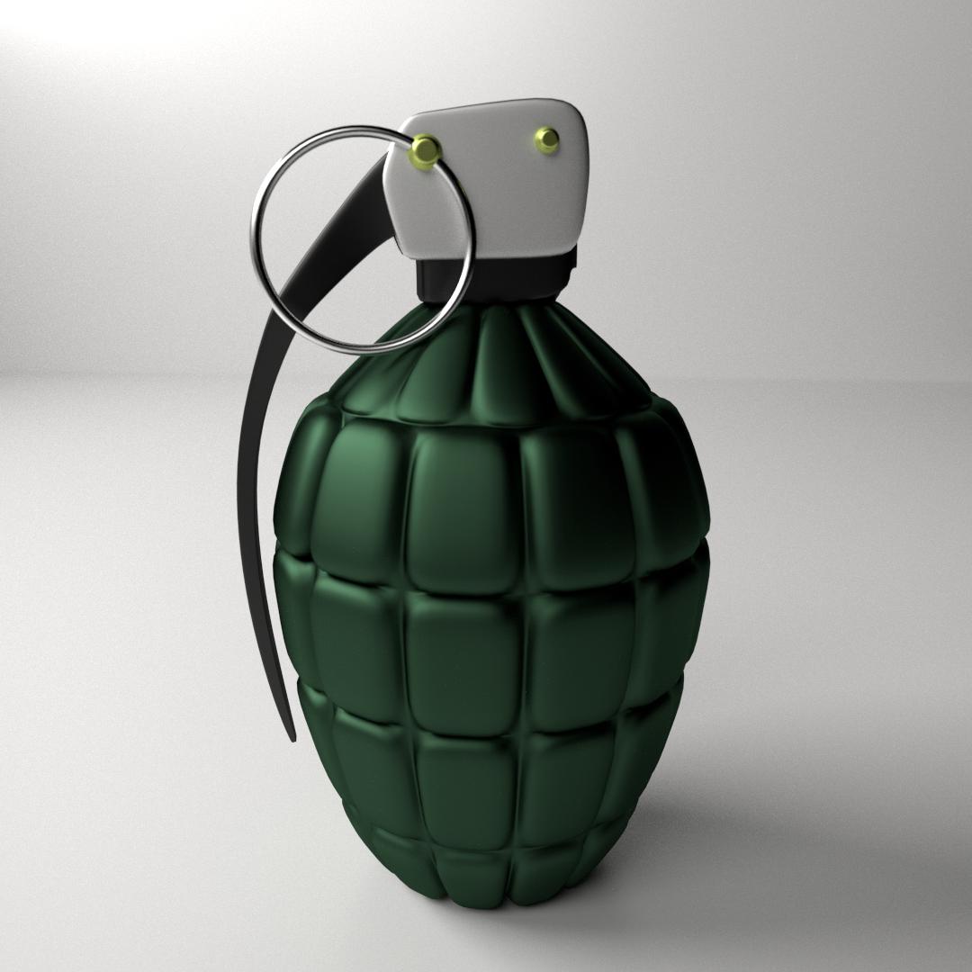 hand grenade 3d model 3ds fbx blend dae. Black Bedroom Furniture Sets. Home Design Ideas