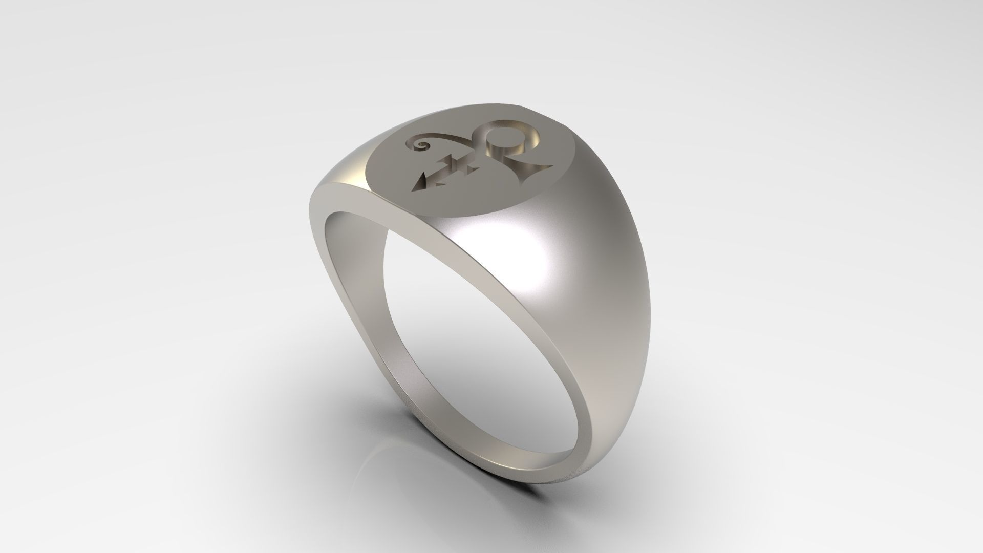 Prince Sott Large Love Signet Ring in US Size