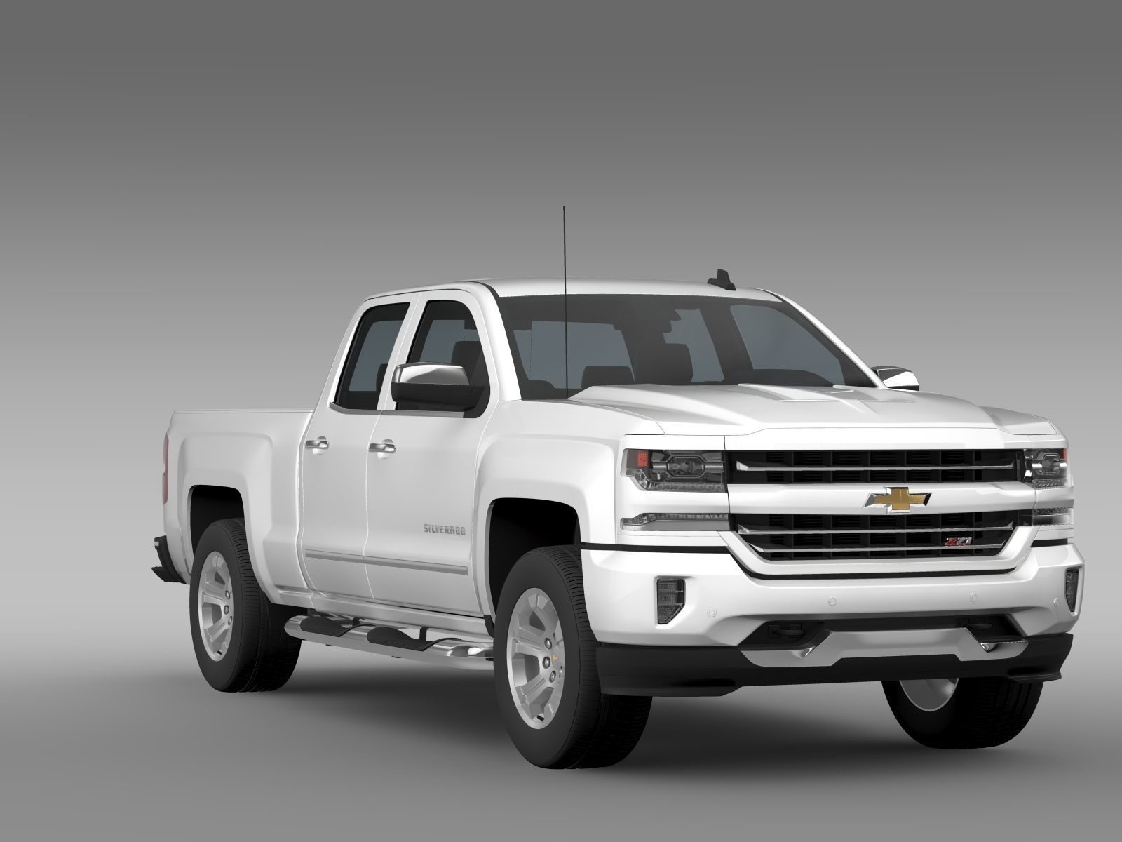 chevrolet silverado ltz z71 double cab gmt 3d model. Black Bedroom Furniture Sets. Home Design Ideas