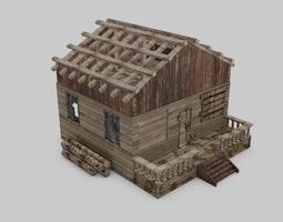 3d model realtime abandoned house