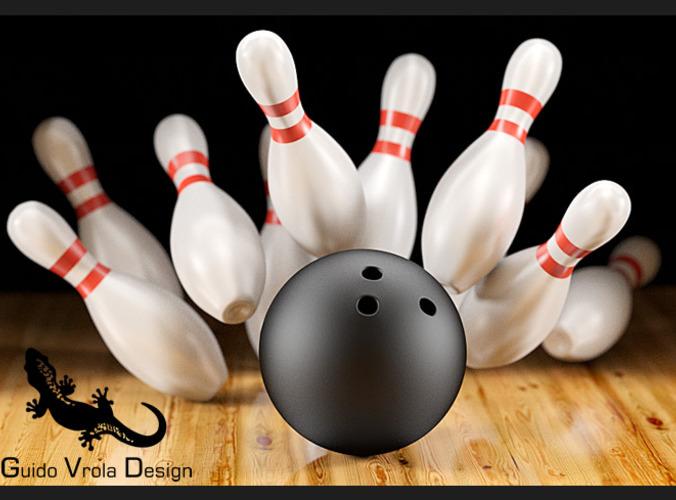 Bowling scene3D model