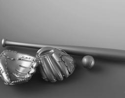 3D print model softball Base Ball Set