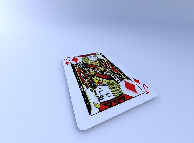 jack of diamonds 3d model obj mtl 1