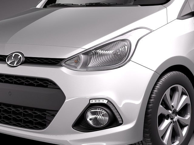 Hyundai i10 2014 3D Model .max .obj .3ds .fbx .c4d .lwo .lw .lws ...