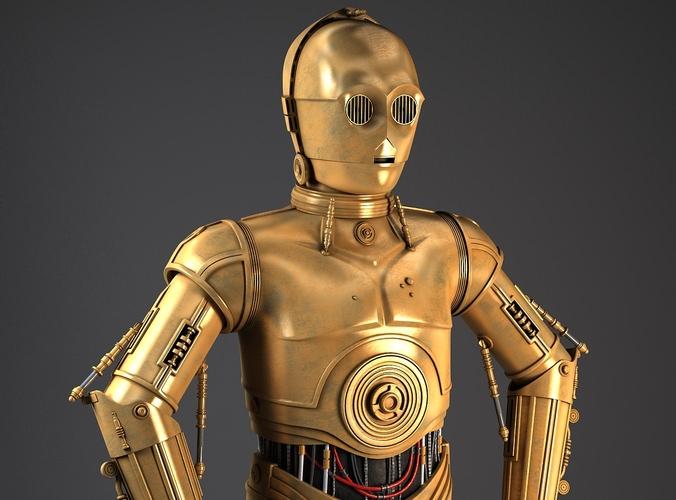 C3PO Star Wars Droid Robot3D model