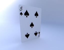 Five of Spades 3D