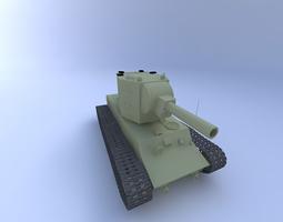 KV-2 Tank 3D Model