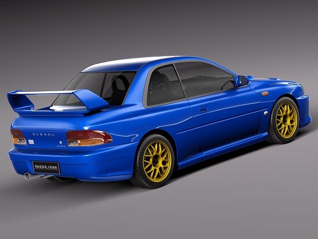 Large Subaru Impreza Sti B D Model Ds Fbx C D Lwo Lw Lws Obj Max Dd C F D Bfe B F E C Ec Fb on 1998 Subaru Impreza 22b Sti