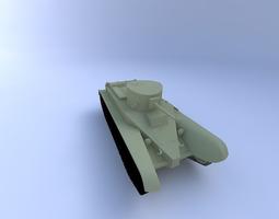 BT-2 Tank 3D Model
